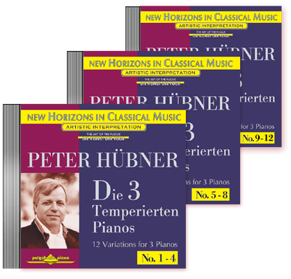 Peter Hübner - Die 3 Temp. Pianos - Var. 1 – 12 · 3 CDs