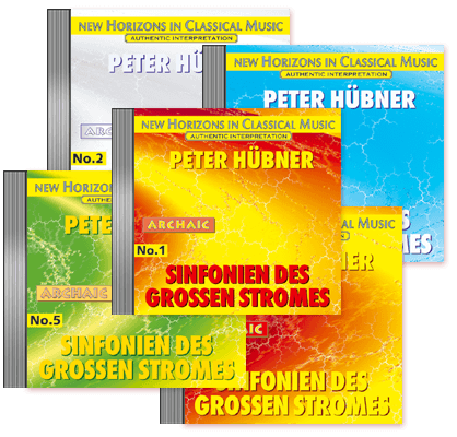 Peter Hübner - Symphonies of the Great Stream - No. 1 – No. 5 · 5 CDs