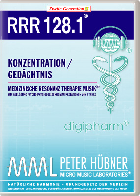 Peter Hübner - Medizinische Resonanz Therapie Musik(R) RRR 128 Konzentration / Gedächtnis • Nr.1
