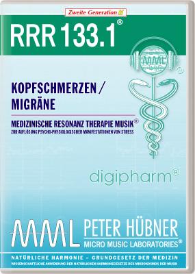 Peter Hübner - Medizinische Resonanz Therapie Musik(R) RRR 133 Kopfschmerzen / Migräne • Nr.1