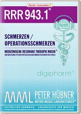 Peter Hübner - Medizinische Resonanz Therapie Musik(R) RRR 943 Schmerzen / Operationsschmerzen • Nr.1