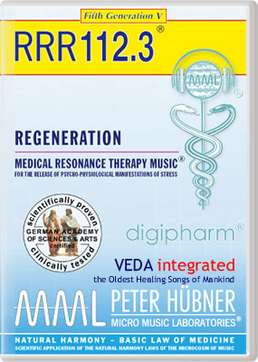 Peter Hübner - REGENERATION<br>RRR 112 • No. 3<br><span style=%22font-size:2.1vw; color:#000099; text-align:center; display:block; margin:0; font-family:'Play', sans-serif; letter-spacing:2px;%22>VEDA <span style=%22color:red;%22>integrated</span></span><span style=%22font-size:1.4vw; text-align:center; color:#000066; display:block; margin:0;%22><em>~ The Oldest Healing Songs of Mankind ~</em></span>
