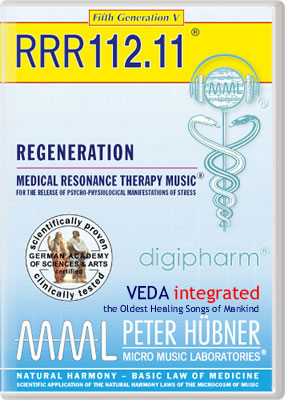 Peter Hübner - REGENERATION<br>RRR 112 • No. 11<br><span style=%22font-size:2.1vw; color:#000099; text-align:center; display:block; margin:0; font-family:'Play', sans-serif; letter-spacing:2px;%22>VEDA <span style=%22color:red;%22>integrated</span></span><span style=%22font-size:1.4vw; text-align:center; color:#000066; display:block; margin:0;%22><em>~ The Oldest Healing Songs of Mankind ~</em></span>