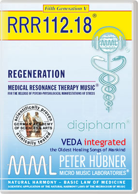Peter Hübner - REGENERATION<br>RRR 112 • No. 18<br><span style=%22font-size:2.1vw; color:#000099; text-align:center; display:block; margin:0; font-family:'Play', sans-serif; letter-spacing:2px;%22>VEDA <span style=%22color:red;%22>integrated</span></span><span style=%22font-size:1.4vw; text-align:center; color:#000066; display:block; margin:0;%22><em>~ The Oldest Healing Songs of Mankind ~</em></span>