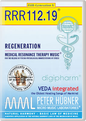 Peter Hübner - REGENERATION<br>RRR 112 • No. 19<br><span style=%22font-size:2.1vw; color:#000099; text-align:center; display:block; margin:0; font-family:'Play', sans-serif; letter-spacing:2px;%22>VEDA <span style=%22color:red;%22>integrated</span></span><span style=%22font-size:1.4vw; text-align:center; color:#000066; display:block; margin:0;%22><em>~ The Oldest Healing Songs of Mankind ~</em></span>