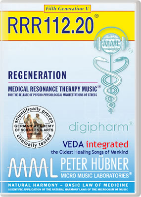 Peter Hübner - REGENERATION<br>RRR 112 • No. 20<br><span style=%22font-size:2.1vw; color:#000099; text-align:center; display:block; margin:0; font-family:'Play', sans-serif; letter-spacing:2px;%22>VEDA <span style=%22color:red;%22>integrated</span></span><span style=%22font-size:1.4vw; text-align:center; color:#000066; display:block; margin:0;%22><em>~ The Oldest Healing Songs of Mankind ~</em></span>